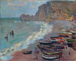 Claude Monet. Etretat, the beach and the port of Amon