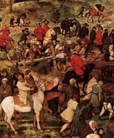 Питер Брейгель Старший. Шествие на Голгофу (Несение креста). Фрагмент 6. Христос падает под тяжестью креста