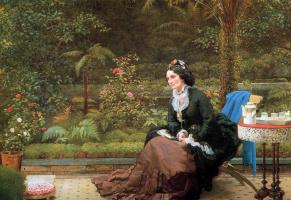 Джордж Данлоп Лесли. Английский послеполуденный чай