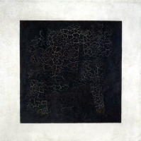 Black Suprematist square