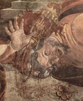 Сандро Боттичелли. Фрески Сикстинской капеллы в Риме, Наказание левитов. Деталь