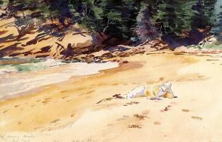 Джон Сингер Сарджент. Песчаный пляж