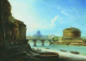 Алексей Петрович Боголюбов. Замок Святого Ангела в Риме
