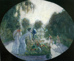Александр Васильевич Шевченко. В саду у бабушки. 1907