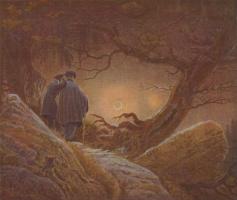 Двое мужчин, созерцающих луну