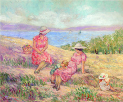 Henri Lebasque. On the Mediterranean coast