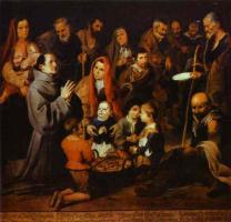 Бартоломе Эстебан Мурильо. Святой Диего раздавает милостыню