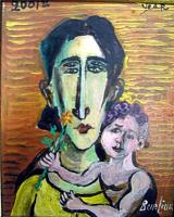 Давид Давидович Бурлюк. Женщина с ребенком