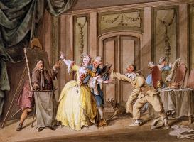 Питер Барбиерс. Сцена из говорящей живописи