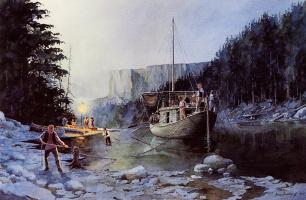 Дэвид Хальбах. Мужчины на реке