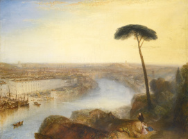 Joseph Mallord William Turner. View of Rome from the Aventine hill
