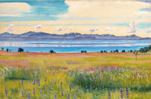 Ferdinand Hodler. View of the Lake Geneva from the side of Saint-Pré