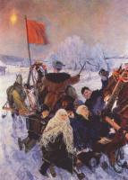 Аркадий Александрович Пластов. Они собираются на выборы