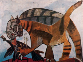 Pablo Picasso. Cat devouring a bird