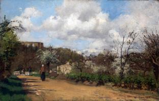Камиль Писсарро. Вид с Лувесьенн