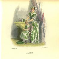 "Jean Inias Isidore (Gerard) Granville. Jasmine. The series ""Animate Flowers"""