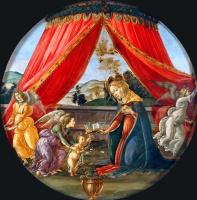 Сандро Боттичелли. Мадонна с младенцем и тремя ангелами (Мадонна дель Падильоне)