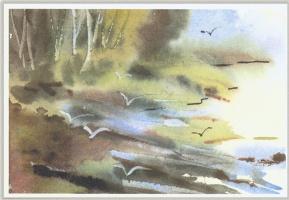Клин Чагнон. Пейзаж с чайками