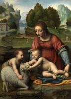 Бернардино Луини. Мадонна с младенцем и Иоанном Крестителем