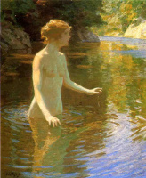 Джон Генри Твахтман. Зачарованный бассейн