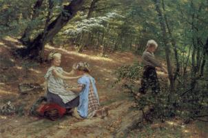 Фридрих Миесс. Дети в лесу