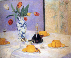 Бернхард Кутманн. Желтые чашки на столе