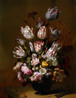 Ханс Гиллис Болоньер. Цветочный натюрморт
