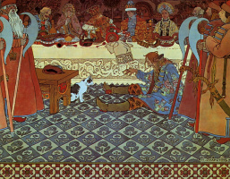 "Ivan Yakovlevich Bilibin. Feast. Illustration to ""The Tale of Tsar Saltan"" by A. S. Pushkin"