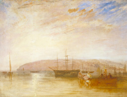 Joseph Mallord William Turner. Shipping at Cape East Cowes