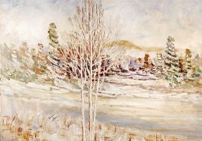 Поль Женест. Зимний пейзаж