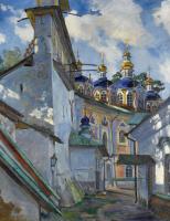 Сергей Арсеньевич Виноградов. Вид на Печерский монастырь