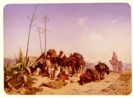 Теодор Горшельт. Сиеста в Алжире