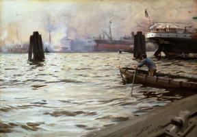 Anders Zorn. Port of Hamburg