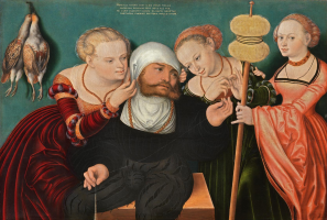 Lucas the Younger Cranach. Hercules at the court of Queen Omphalos. Thyssen-Bornemisza Museum, Madrid.
