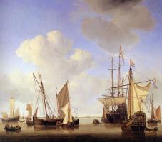 Виллем ван де Вельде Младший. Корабли на рейде