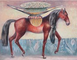 Лошадь с цветами