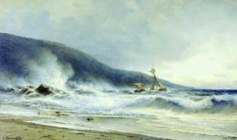 Alexey Petrovich Bogolyubov. Surf at Cape St. Martin