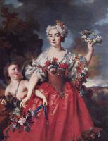 Никола де Ларжильер. Портрет маркизы Гейдан в виде Флоры
