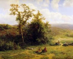 Жан Киндерманс. Летний пейзаж