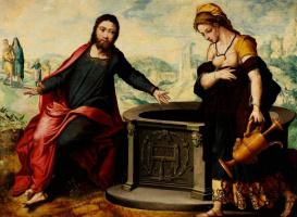 Питер Артсен. Христос и самарянка