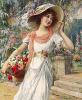 Emile Vernon. Blooming garden. 1915