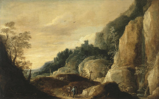 David Teniers the Younger. Mountain landscape