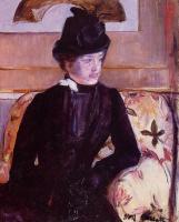 Мэри Кассат. Молодая женщина в чёрном (Портрет мадам Дж.)