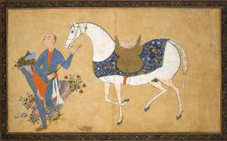 Шараф аль-Хусайни аль-Йазди. Юноша с лютней