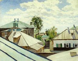Виктор Эльпидифорович Борисов-Мусатов. Крыши