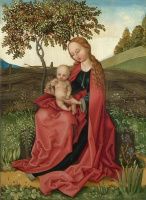 Мартин Шонгауэр. Мадонна с Младенцем в саду