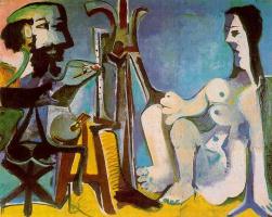 Пабло Пикассо. Обнаженная натурщица