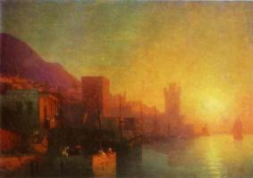 Ivan Aivazovsky. On the island of Rhodes