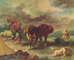 Эжен Делакруа. Марокканец и его конь