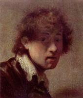 Рембрандт Харменс ван Рейн. Юношеский автопортрет